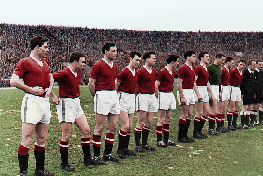 Manchester United history, picture of the busby babes