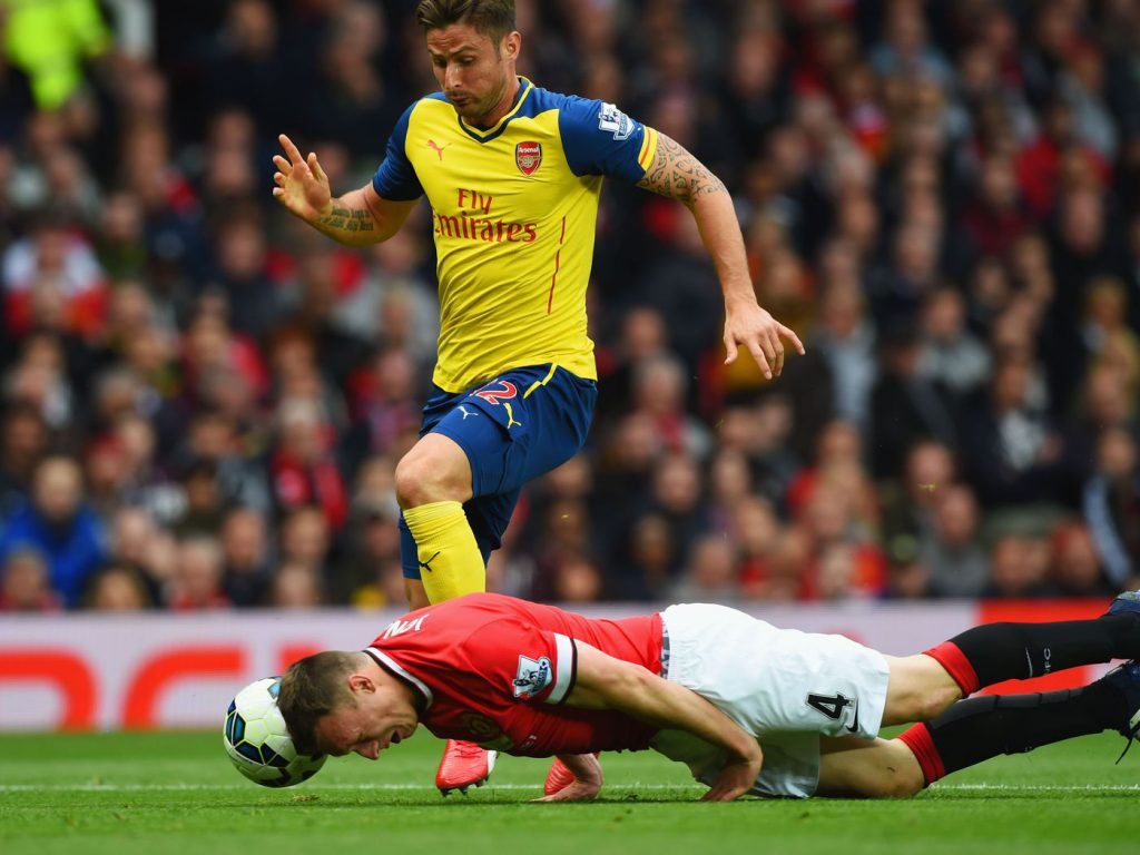 Phil Jones doing his Phil Jones impression.